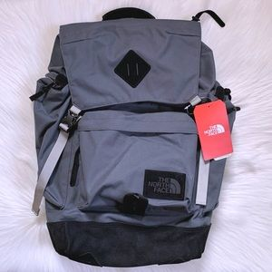 The North Face Rucksack Backpack In Slate Grey